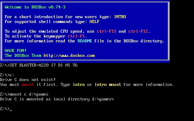 צילום מסך DOSbox